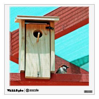 Bird wooden nest wall skin