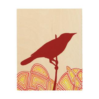 Bird Wood Canvas