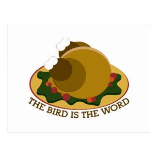 Bird Word Post Card