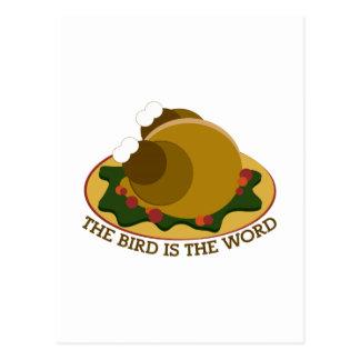 Bird Word Postcard