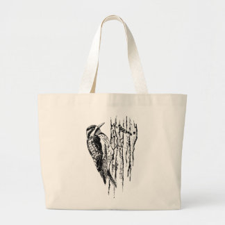 Bird / Yellow-Bellied Sapsucker Large Tote Bag