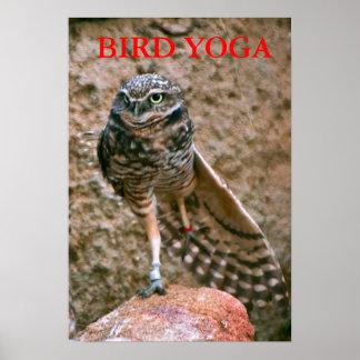 , BIRD YOGA POSTER