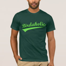 Men's Basic American Apparel T-Shirt with Birdaholic design