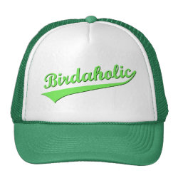 Trucker Hat with Birdaholic design