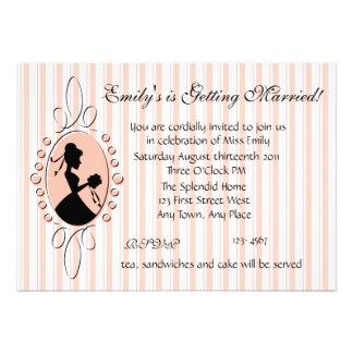 Birdal Shower Cameo Personalized Invite
