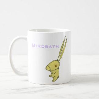 Birdbath Bunny mug