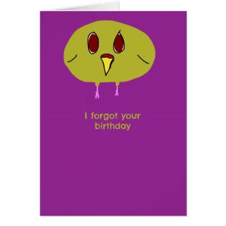 Birdbrain Birthday Card