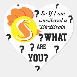 Birdbrain sticker
