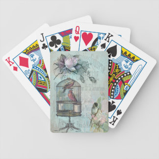 Birdcage Blossom Bicycle Playing Cards
