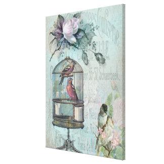 Birdcage Blossom Canvas Print