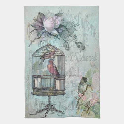Birdcage Blossom Towel