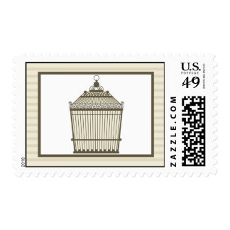 Birdcage de 20 sellos/ligón gris de la jaula de timbre postal