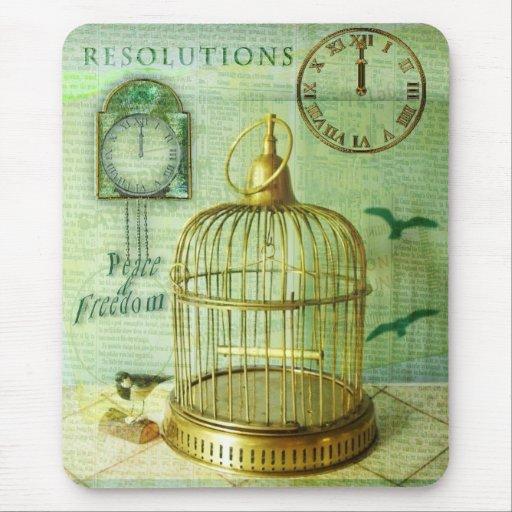 Birdcage de bronce alfombrilla de ratón