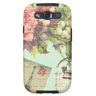 Birdcage de París del vintage Samsung Galaxy S3 Carcasas