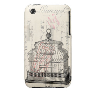 Birdcage Mixed Media Art iPhone 3 Case-Mate Cases