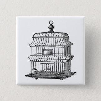 Birdcage Pinback Button