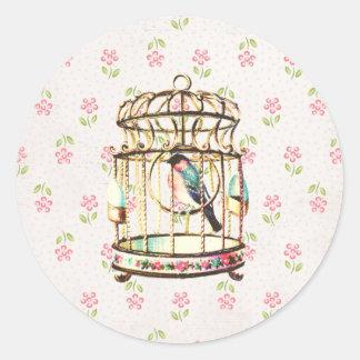 Birdcage Vintage Sticker