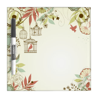 Birdcages in a Tree Dry Erase Board