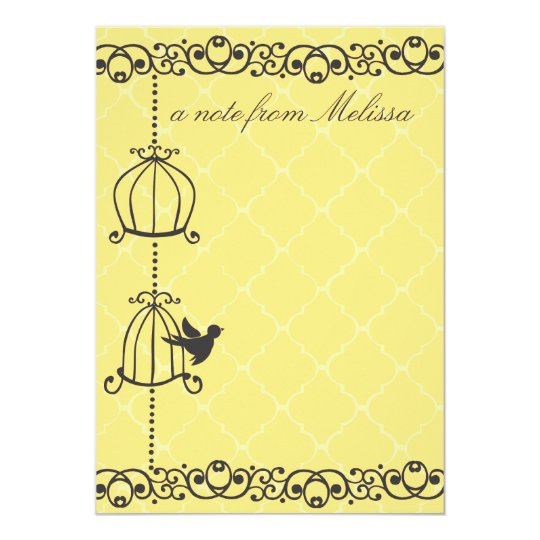 Birdcages in Gray Card