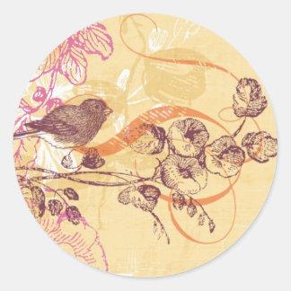 BirdCircleSticker Classic Round Sticker