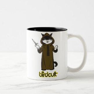 birdcult™ featuring lil bitty kitty™ Two-Tone coffee mug
