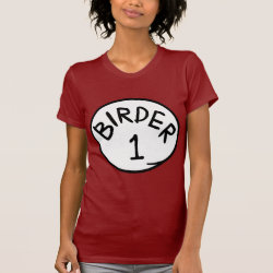 Women's American Apparel Fine Jersey Short Sleeve T-Shirt with Birder 1, 2, 3 design