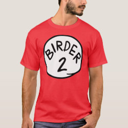 Men's Basic Dark T-Shirt with Birder 1, 2, 3 design