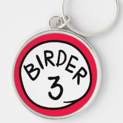 Premium Round Keychain with Birder 1, 2, 3 design