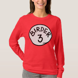 Women's Basic Long Sleeve T-Shirt with Birder 1, 2, 3 design
