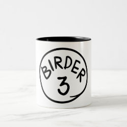 Two-Tone Mug with Birder 1, 2, 3 design
