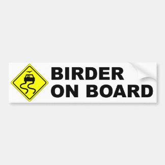 Birder a bordo etiqueta de parachoque