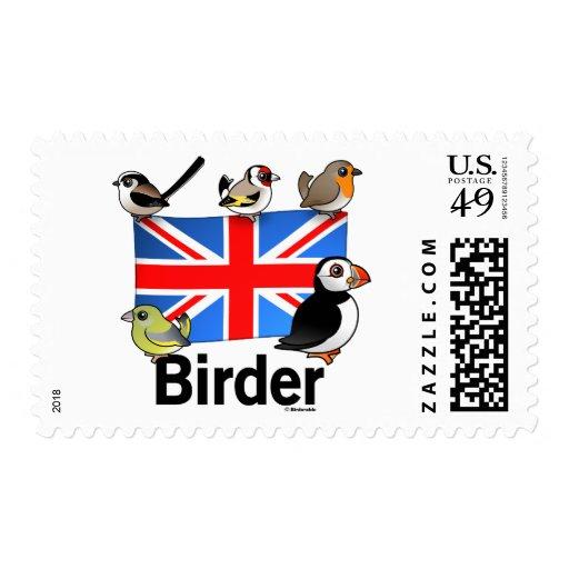 Birder BRITÁNICO Estampilla