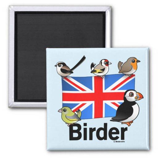 Birder BRITÁNICO Imán Para Frigorifico