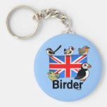 Birder BRITÁNICO Llaveros Personalizados