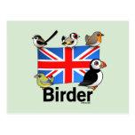 Birder BRITÁNICO Postales