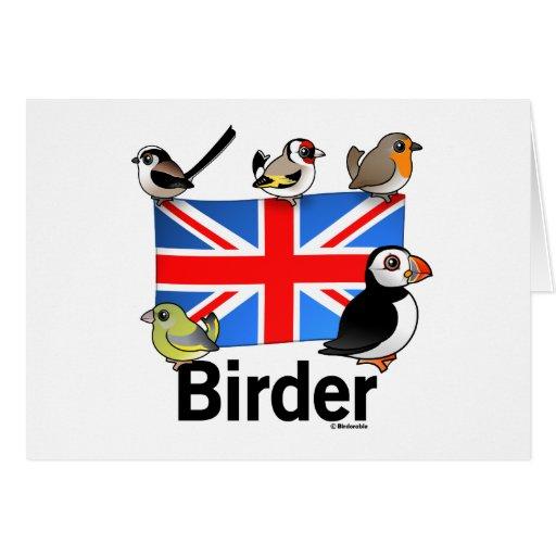 Birder BRITÁNICO Tarjeta De Felicitación
