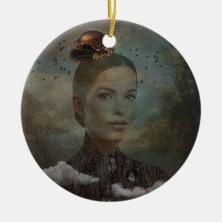 Birder Ceramic Ornament