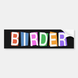 Birder del Retro-estilo Etiqueta De Parachoque