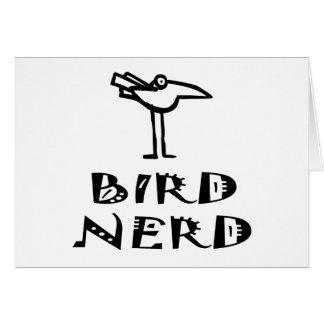 Birder divertido tarjeta de felicitación