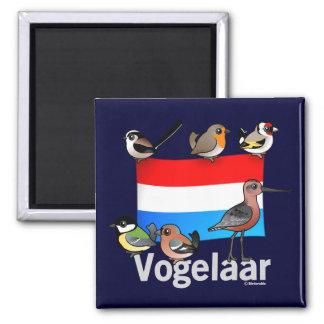 Birder holandés: Vogelaar Imán Cuadrado