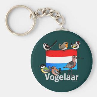 Birder holandés: Vogelaar Llavero Redondo Tipo Pin