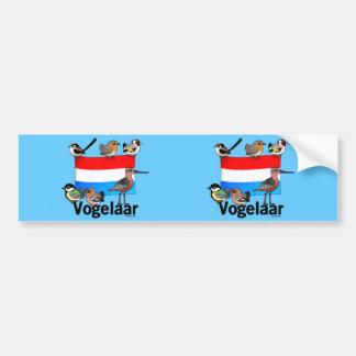 Birder holandés: Vogelaar Pegatina Para Auto