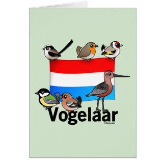 Birder holandés: Vogelaar Tarjeta De Felicitación