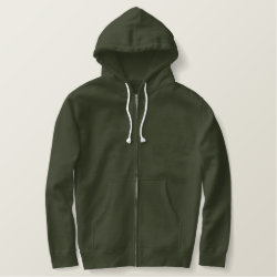 Men's Embroidered Basic Zip Hoodie with Embroidered Birder Gifts design
