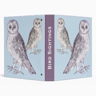 Birder's Diary - Bird Sightings Notebook Two Owls Binders