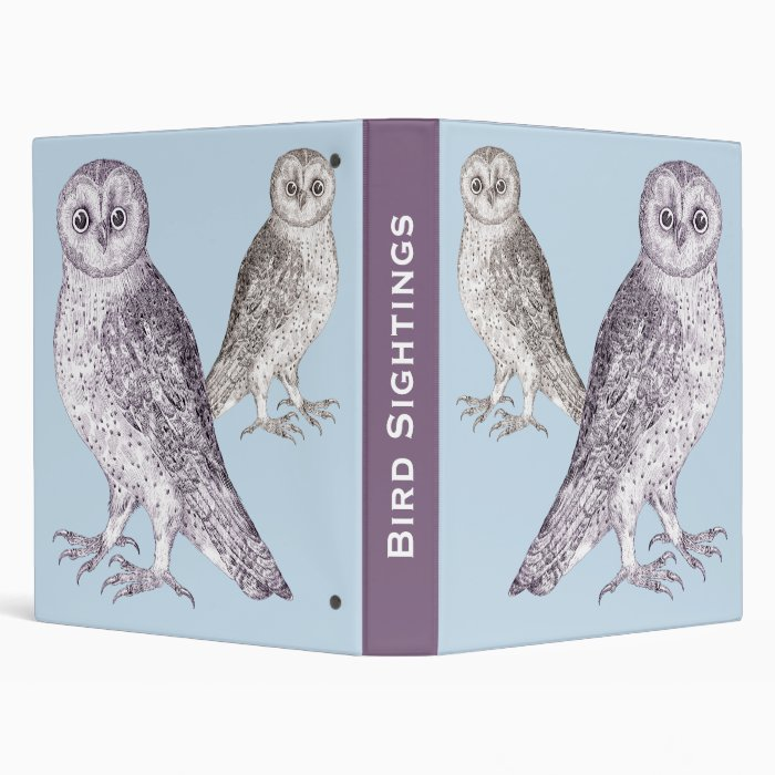 Birder's Diary - Bird Sightings Notebook Two Owls Binder