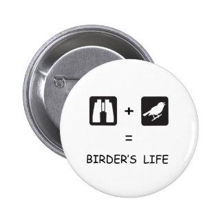 Birder's Life 2 Inch Round Button