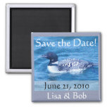 Birders: Loon Save the Date Magnet