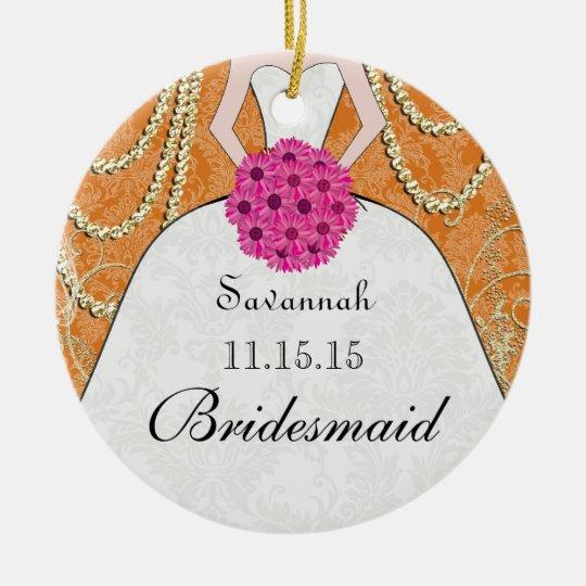 Birdesmaid Gifts You Choose Colors Ceramic Ornament
