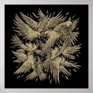 Birdfight Print